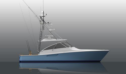быстроходный катер с внутренним мотором / дизельный / круизный / для спортивной рыбалки
