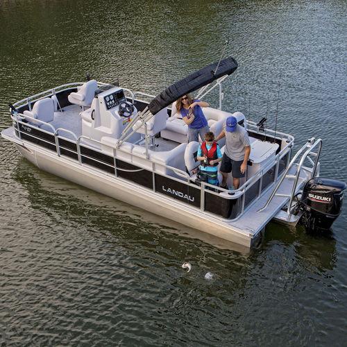 понтоновый катер c подвесным мотором / трехтрубный / для спортивной рыбалки / макс. 12 человек