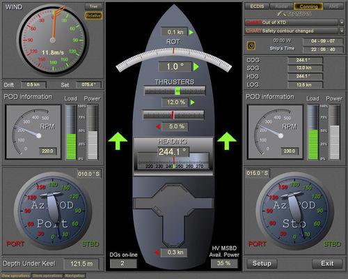 программное обеспечение для системы контроля и сигнализации / для судна / для яхты