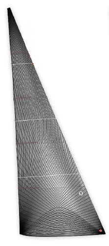 передний парус / для гоночной яхты / мембранный / из углерода