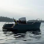 открытый катер с внутренним мотором / электрический / с центральной консолью / открытый
