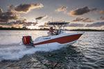 подвесной открытый катер / для спортивной рыбалки / макс. 8 человек / Т-образная верхняя часть