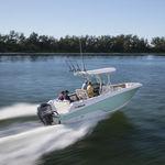 подвесной открытый катер / для спортивной рыбалки / Т-образная верхняя часть