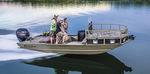 подвесная плоскодонка / с центральной консолью / для спортивной рыбалки / из алюминия