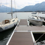 плавучий понтон / для причаливания / для яхтенной стоянки