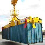 спредер для контейнеров / для подвижного портового крана / телескопический / типа двукратной продувки