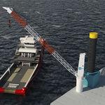 подъемный кран для судна / портовый / для палубы / с подъемной стрелой