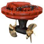 азимутная силовая установка / для судна / электрическая / винт противоположного вращения