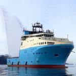 служебное судно для плавания в открытом море для снабжения / полярное