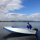 ботик c подвесным мотором / складной / открытый / для рыбной ловли