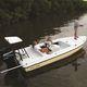 подвесная плоскодонная лодка / с центральной консолью / для спортивной рыбалки / 6 мест