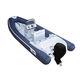 надувная лодка c подвесным мотором / полужесткая / с центральной консолью / из стекловолокна