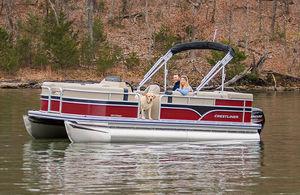понтоновый катер c подвесным мотором / для водных лыж / для спортивной рыбалки / из алюминия