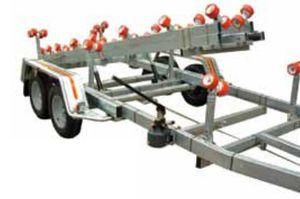 прицеп для разгрузочно-погрузочных работ / для судостроительной верфи / с роликами