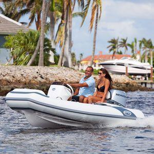надувная лодка c подвесным мотором / дизельная / полужесткая / с боковой консолью