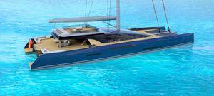 элитная парусная супер-яхта катамаран