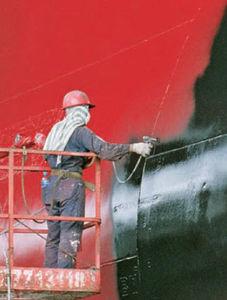 предохраняющее от обрастания покрытие для коммерческого судна