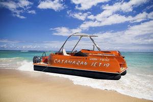 понтоновый катер c подвесным мотором