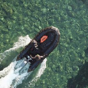 профессиональный катер военный катер / c подвесным мотором / передвижной / надувная складная лодка