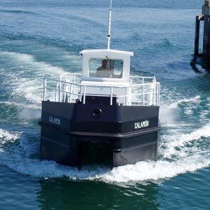 профессиональный катер судно для сбора нефтяных разливов / с внутренним мотором