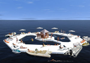 искусственный искусственный плавучий остров