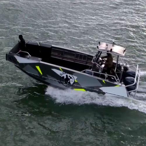 рабочая баржа / судно против загрязнения / c подвесным мотором