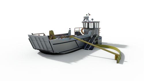 рабочая баржа / судно против загрязнения / с внутренним мотором