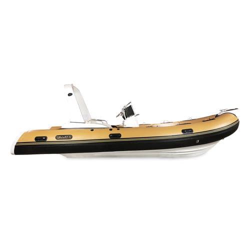 надувная лодка c подвесным мотором / полужесткая / с центральной консолью / спортивная