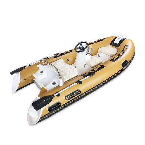 надувная лодка c подвесным мотором / полужесткая / с боковой консолью / вспомогательная шлюпка для яхты