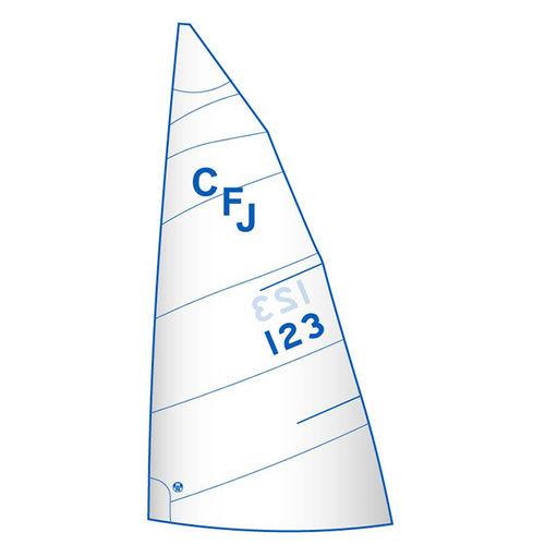 грот / для килевого спортивного монотипа / для гоночной яхты / с горизонтальным сечением