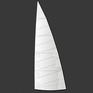 грот / для гоночной яхты / с горизонтальным сечением / из полиэстера