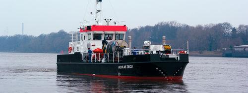 судно против загрязнения / с внутренним мотором / из алюминия