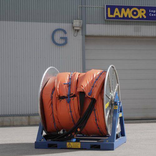 закрутка для противозагрязнительного заграждения в контейнере