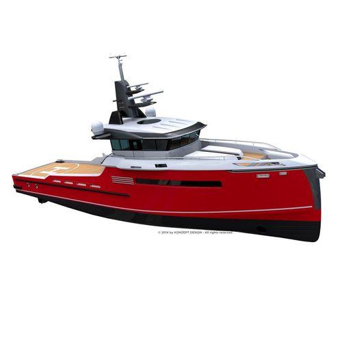служебное судно для плавания в открытом море снабжения платформ - PSV
