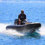 надувная лодка c подвесным мотором / электрическая / полужесткая / с центральной консолью