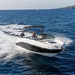 небольшой катер c подвесным мотором / с двойной консолью / спортивный / для водных лыж