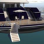 лестница для яхты / фиксированная / для купания / кормовая