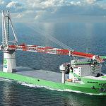 подъемный кран для судна / для высокой нагрузки