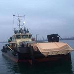 профессиональный катер судно для сбора нефтяных разливов / катамаран / с внутренним мотором