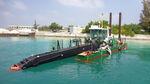 профессиональный катер земснаряд для очистки водоемов / катамаран / с внутренним мотором / дизельный