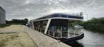 многокорпусная барка / с внутренним мотором / электрическая на солнечной энергии / двойной мост терраса