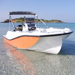 открытый катер c подвесным мотором / с центральной консолью / для водных лыж / спортивный