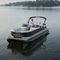 понтоновый катер c подвесным мотором / трехтрубный / вейкборда / для водных лыж