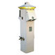 стойка со встроенным освещением / для распределения электроэнергии / для понтона / из нержавеющей стали