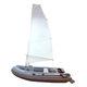 надувная лодка c подвесным мотором / полужесткая / складная / парусный привод