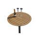 стол кокпита для яхты / фиксируемый / из тикового дерева