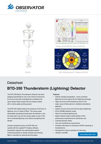 BTD-350 Thunderstorm (Lightning) Detector