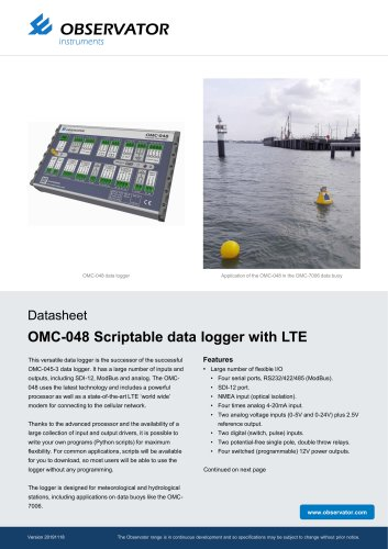 OMC-048 Scriptable data logger with LTE