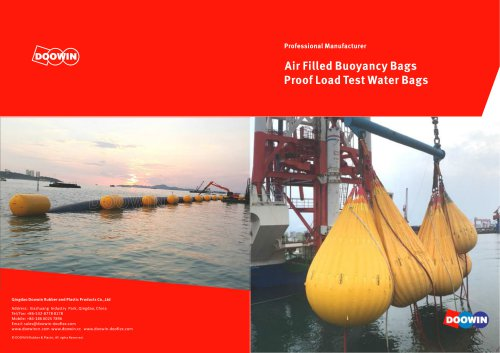 Air Filled Buoyancy Bags Proof Load Test Water Bags