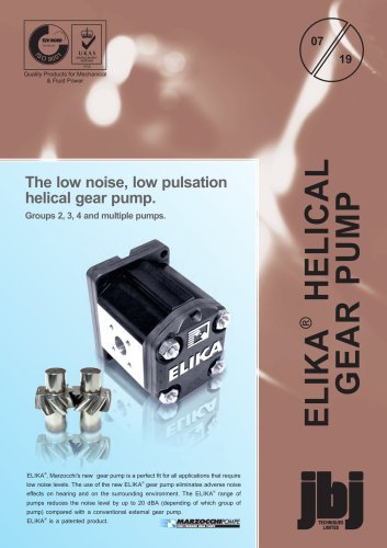 Elika® helical gear pumps